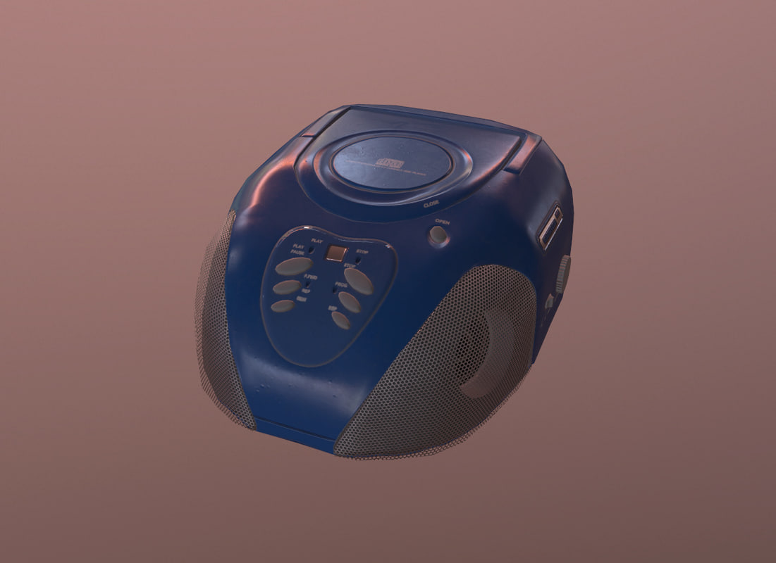 stereo boombox 3D model