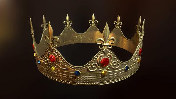 king crown pbr ready 3D model