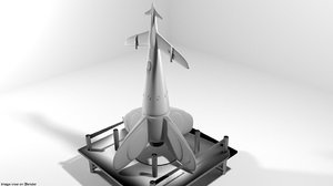 missile rocket rocketship 3D model