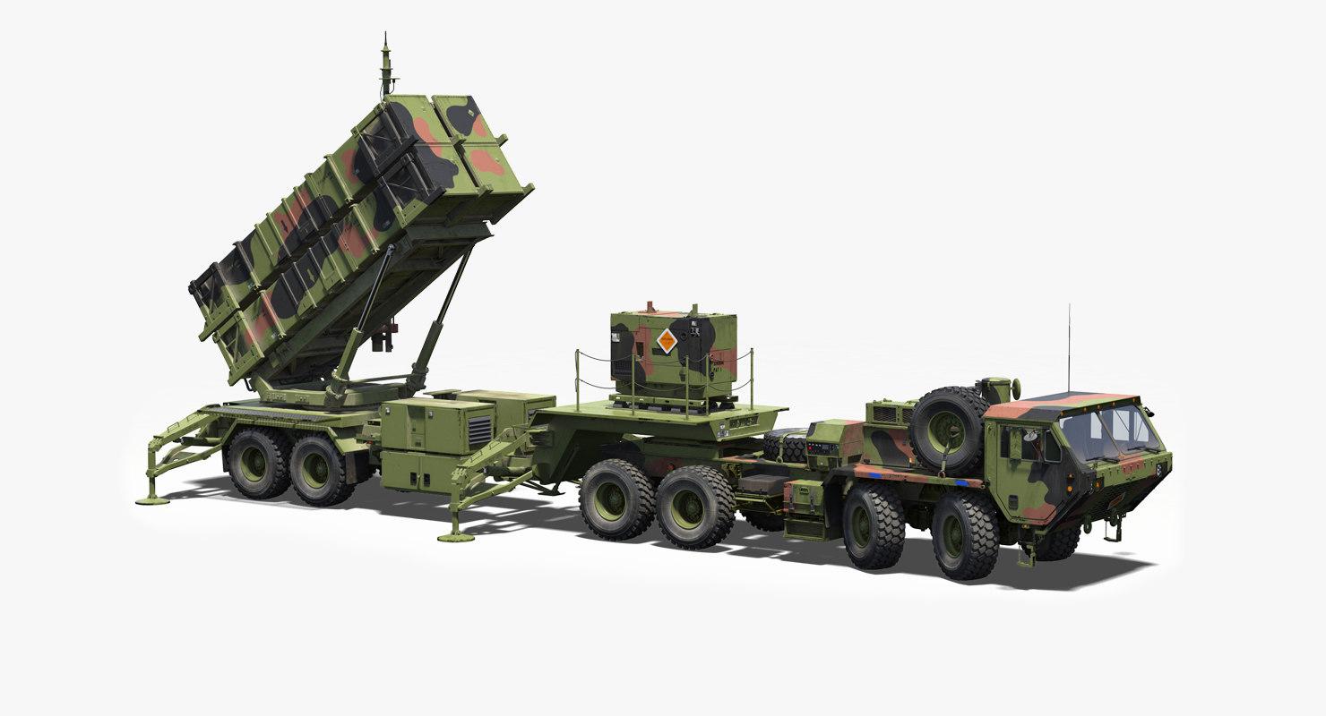 3D mim-104 patriot surface air missile model