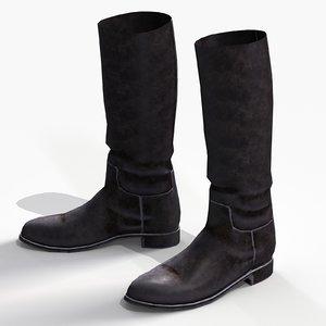 han solo riding boots 3D model