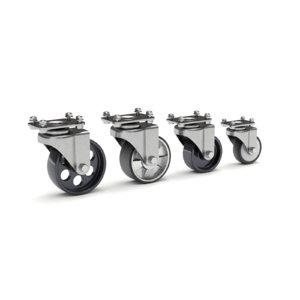 3D caster set wheel model