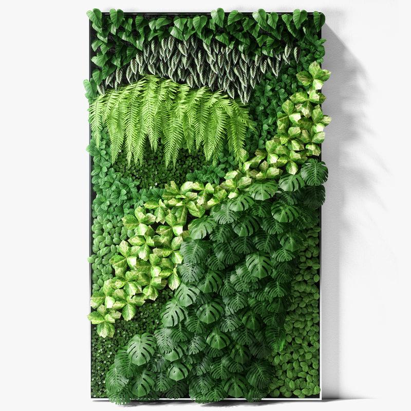 vertical garden 03 3D