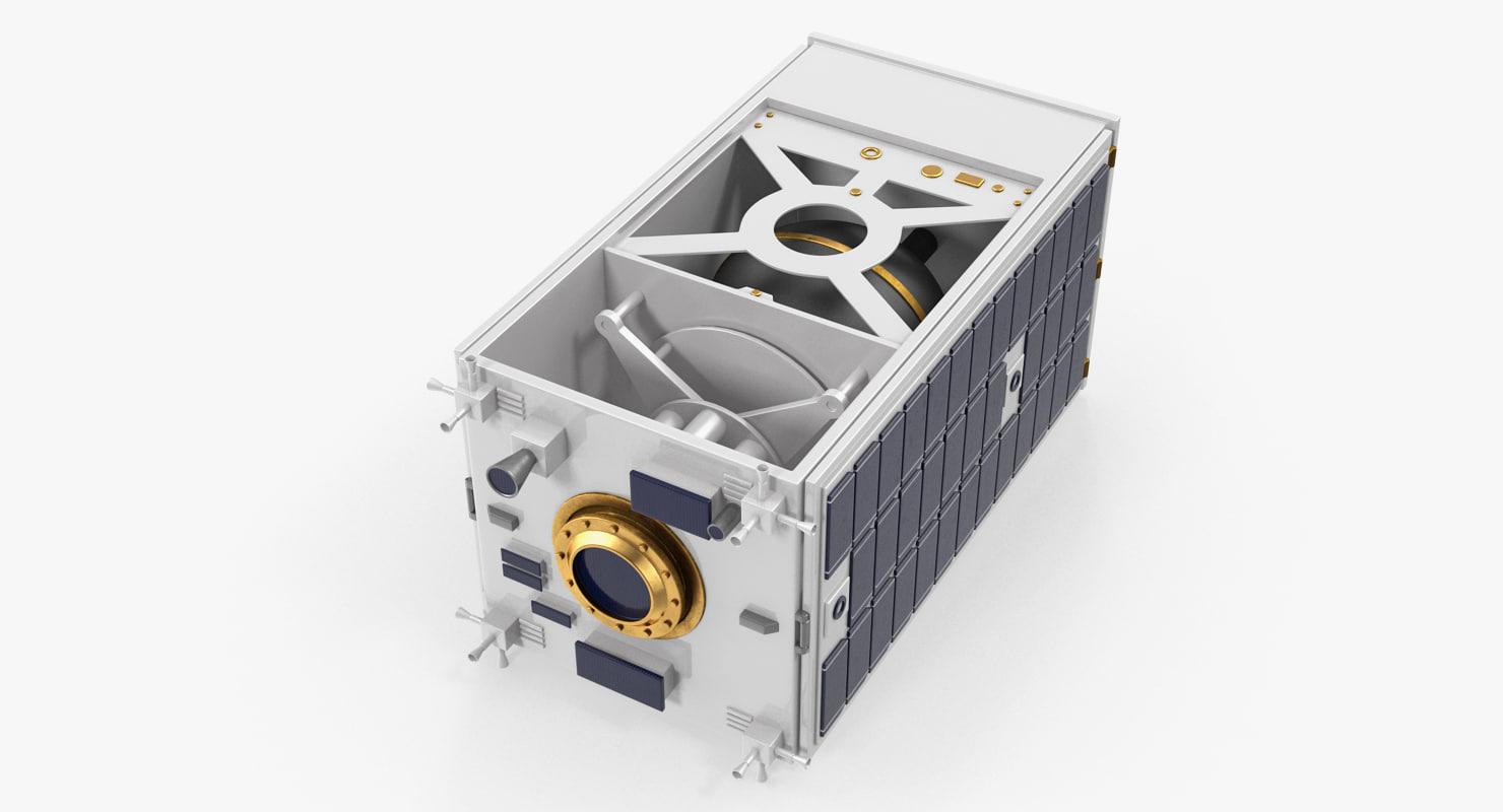satellite collapsed panels model