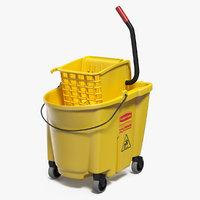 Single Mop Bucket Wringer Trolley