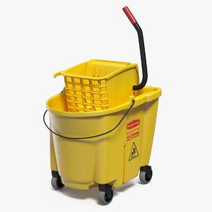 single mop bucket wringer 3D model