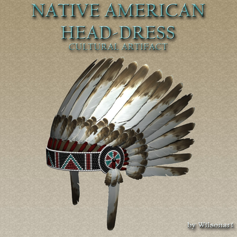 native american headdress 3D model