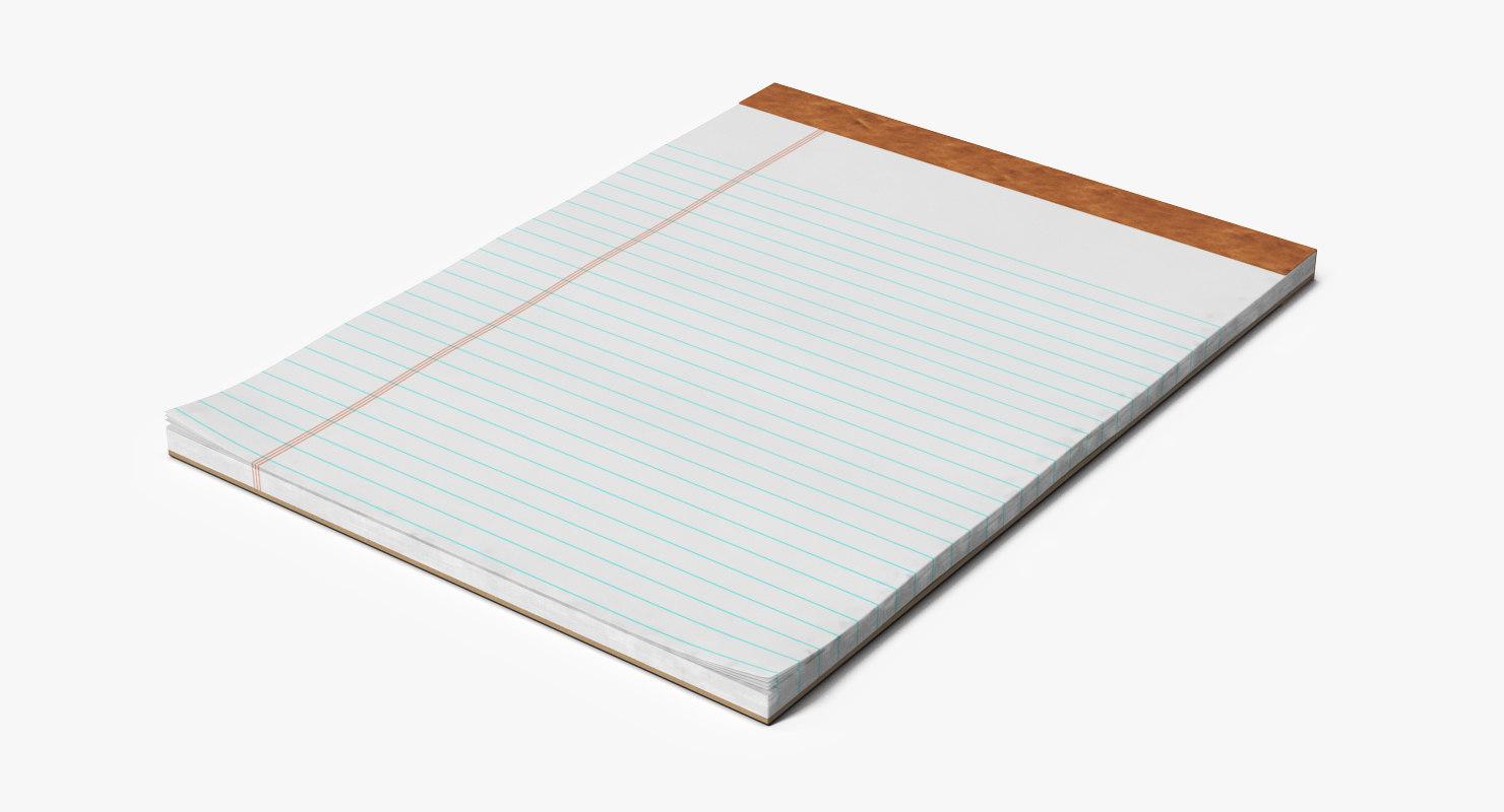 3D writing pad model