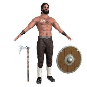 viking rigging man 3D model