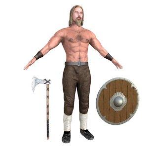 3D model viking 4