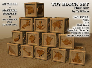 toy blocks 3D model