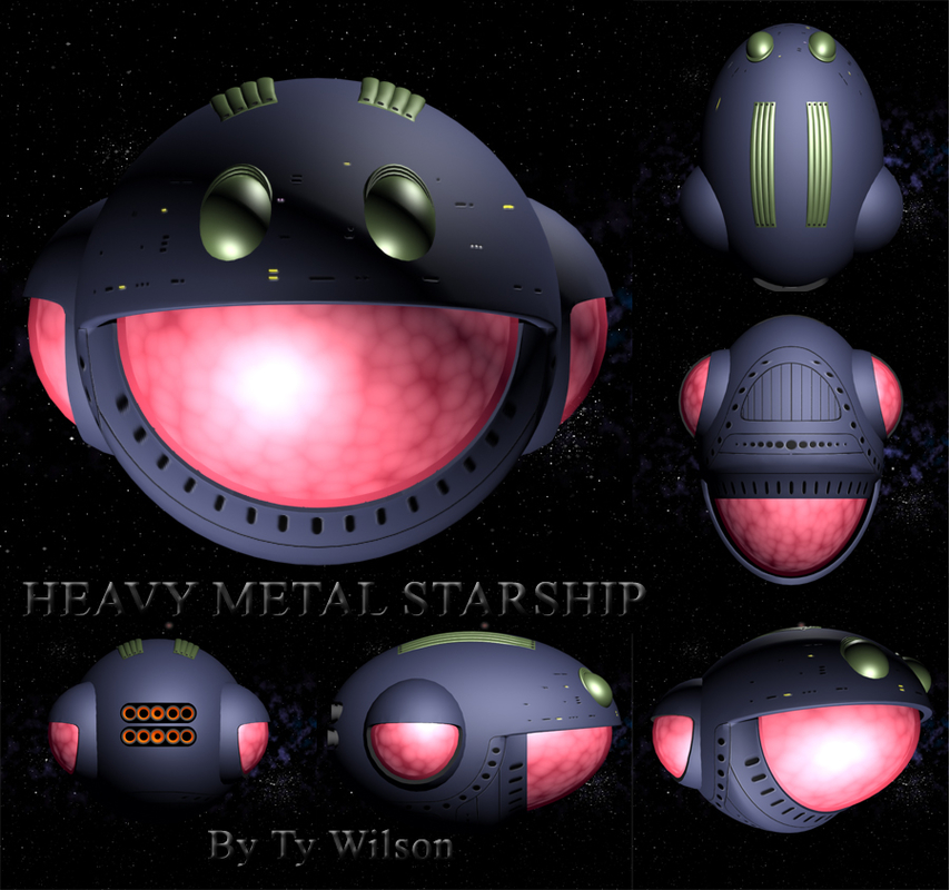 heavy metal 3D model