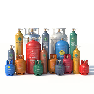 3D gas cylinders