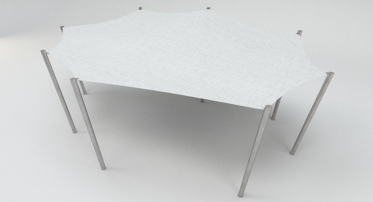 3D tensile membrane canopy model
