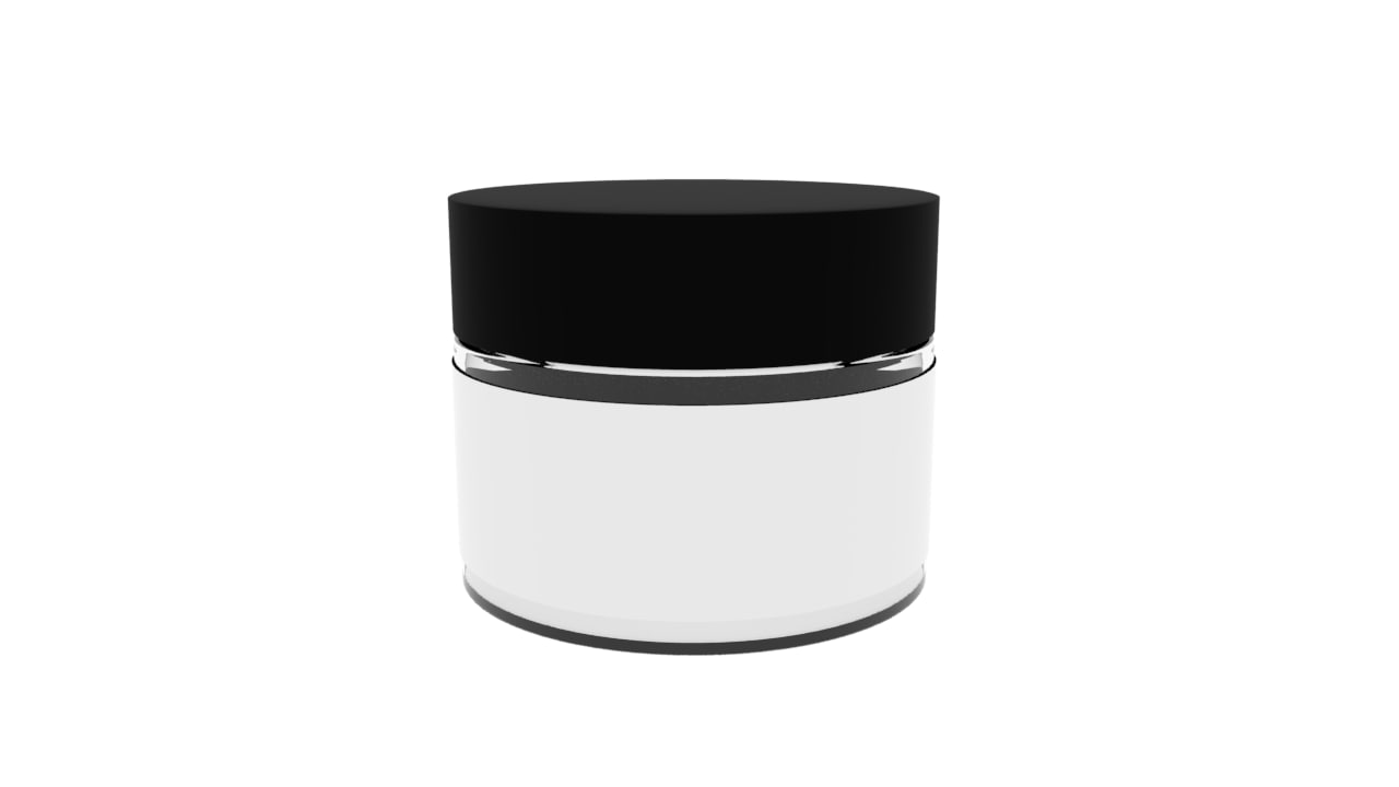 jar cosmetic bottle 3D