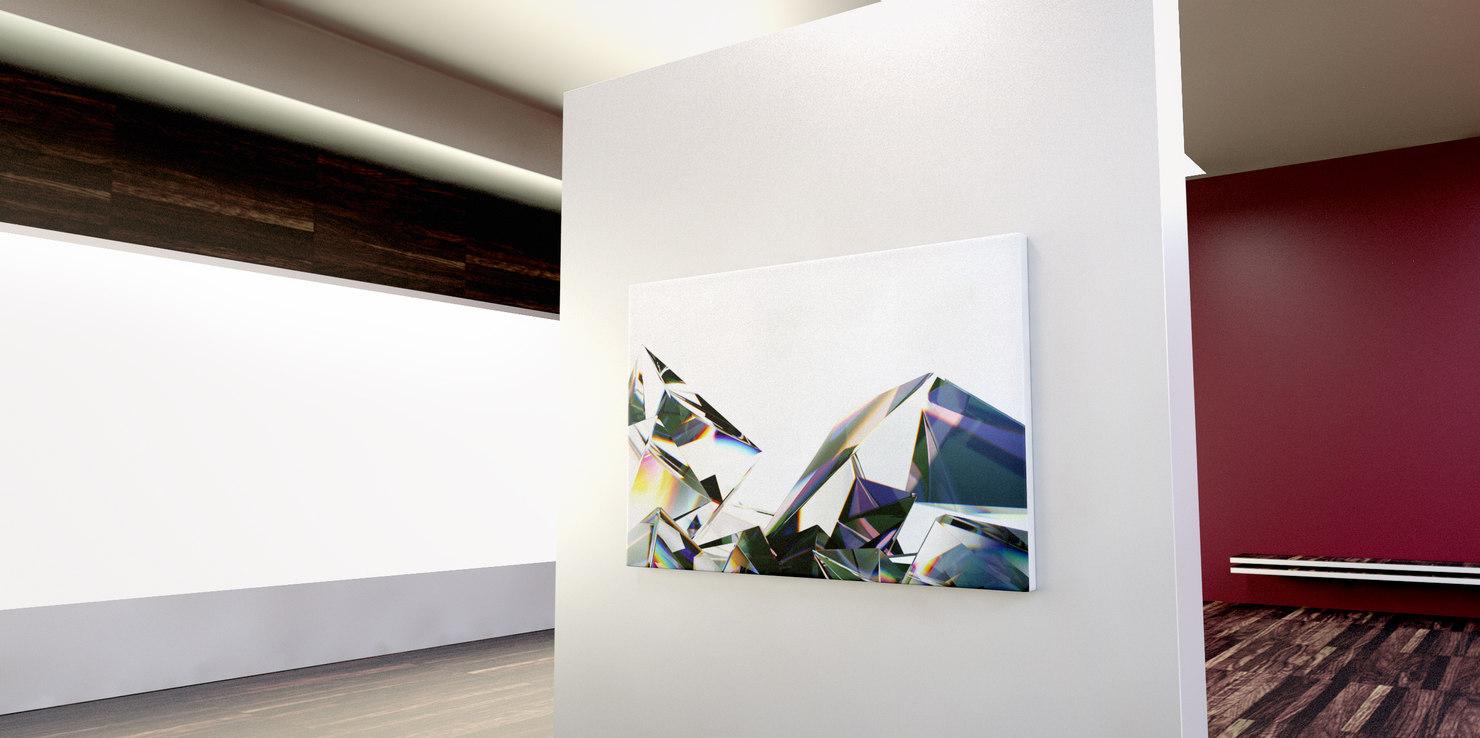 entangled photons canvas art 3D model