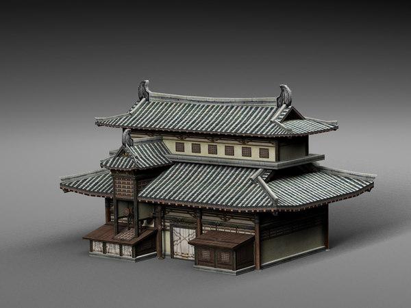 3D house china model