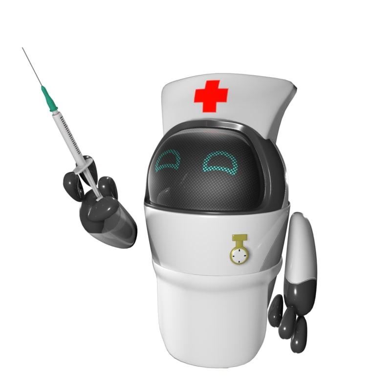 robots nurse drone 3D model