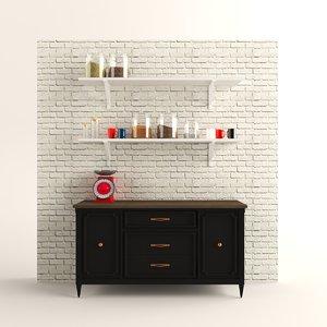 kitchen cabinet 3D