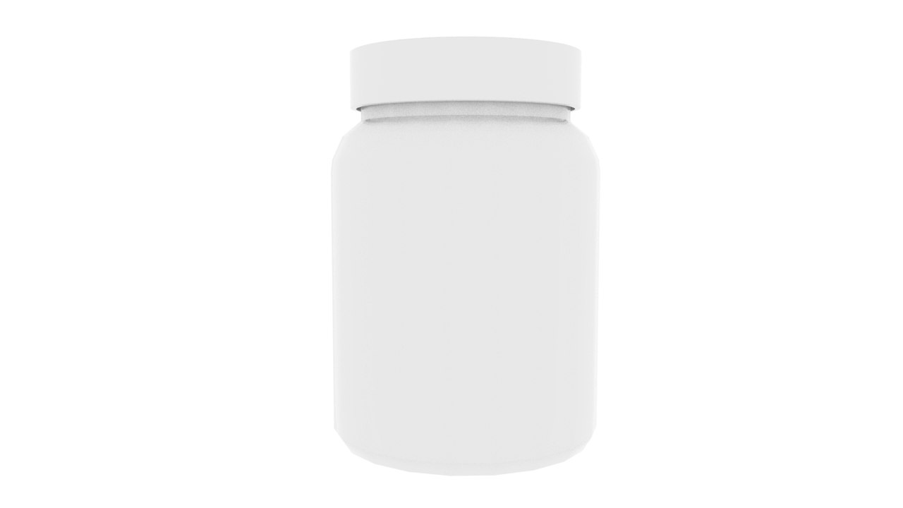3D vitamin bottle
