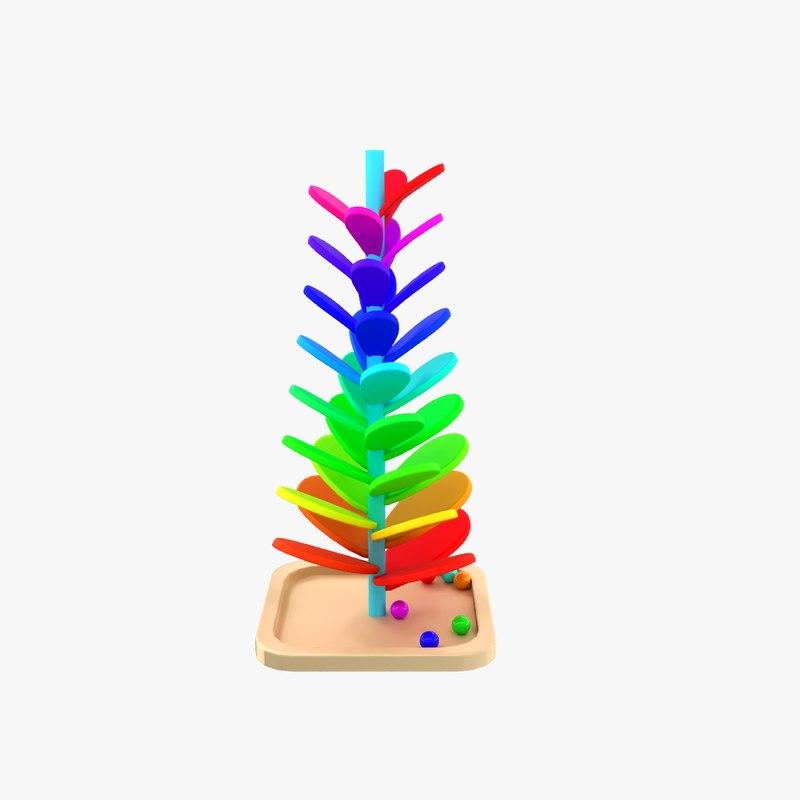 3D montessori mainbow wooden soundtree model
