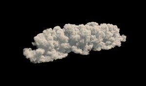 realistic cloud vdb format 3D model