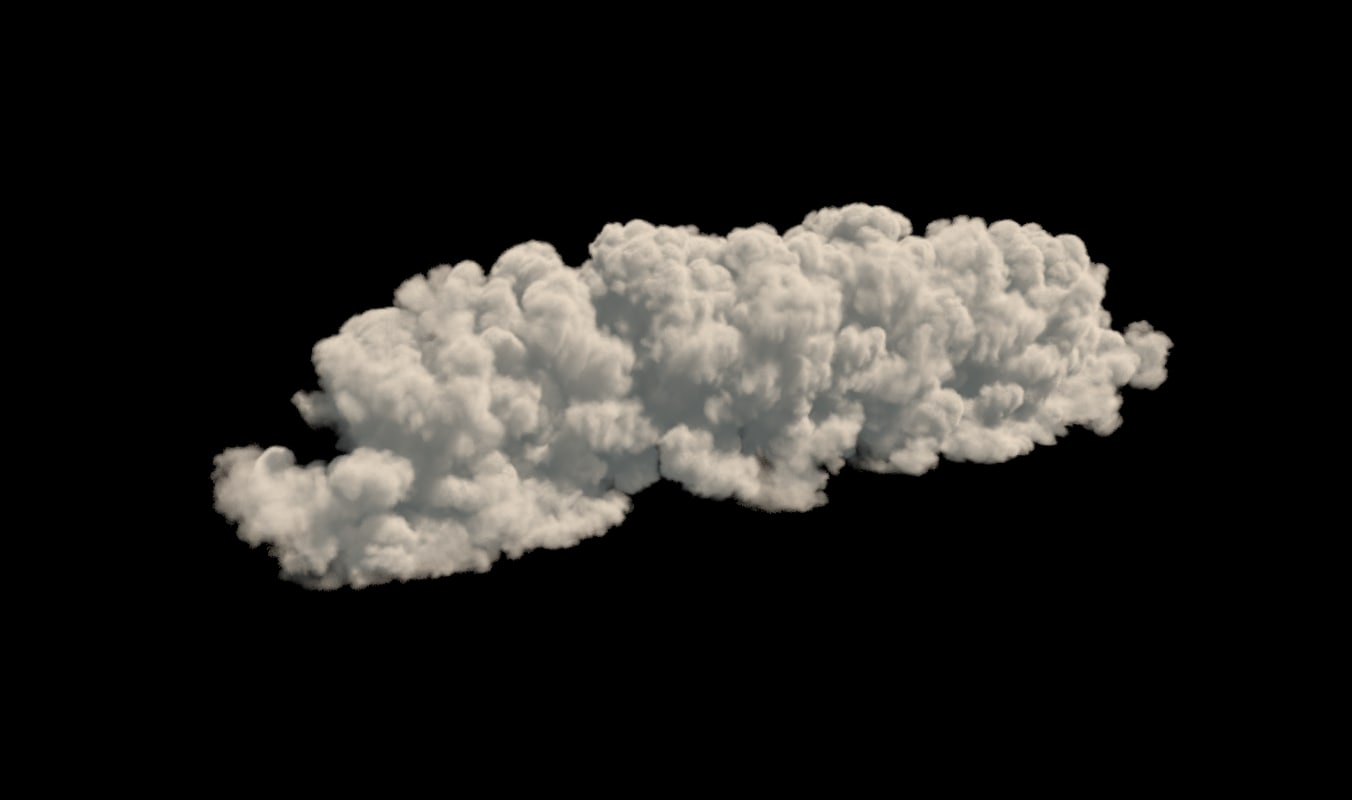 realistic cloud vdb format 3D model