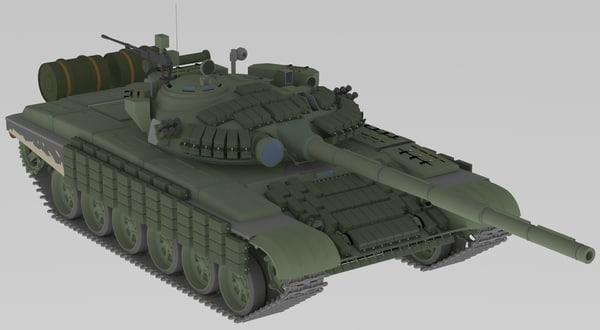 3D tank t 72 b model