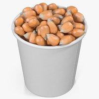 3D model corn kernels cup