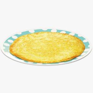 pancake plate 3D model
