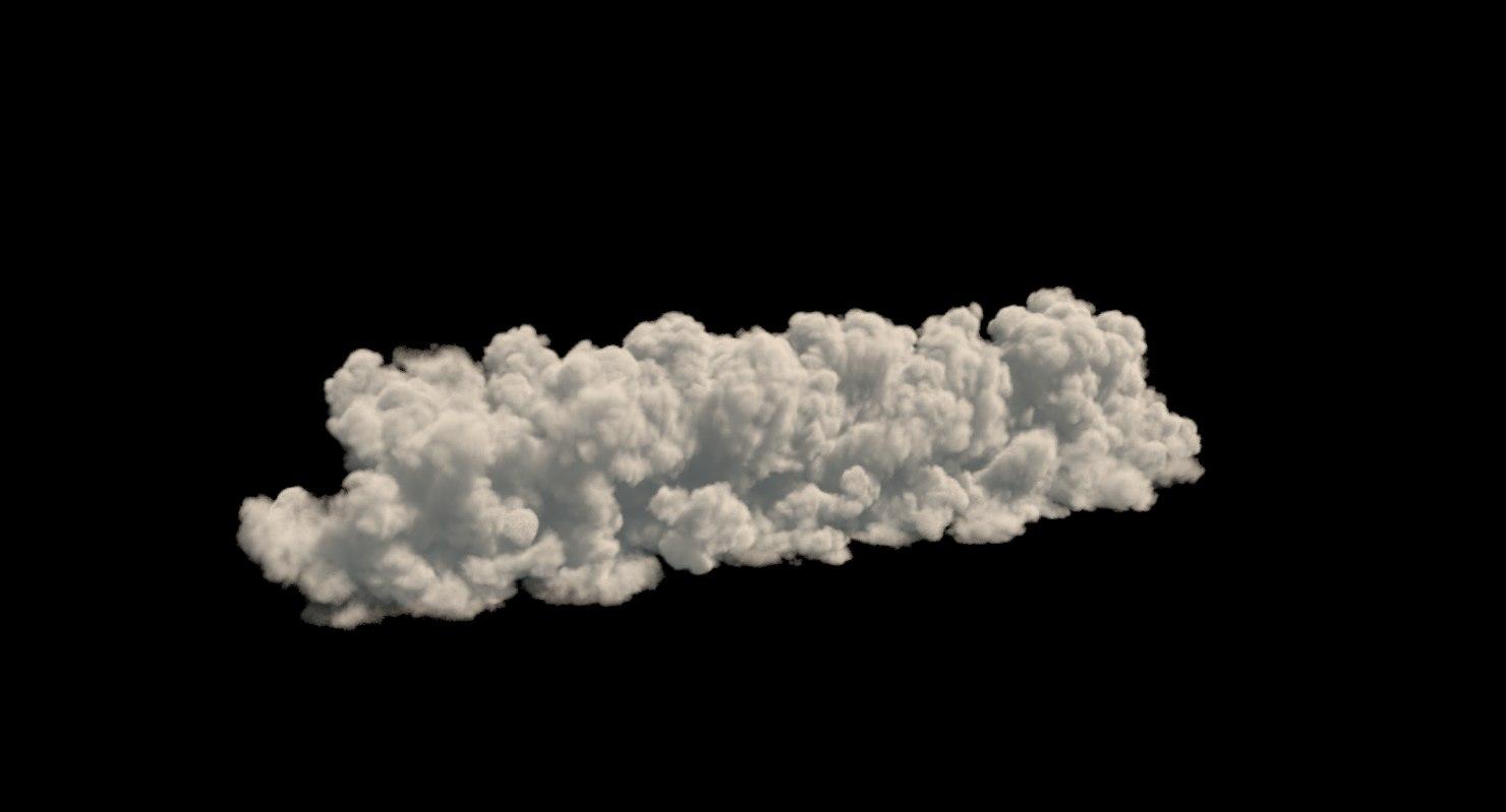 realistic cloud vdb format model