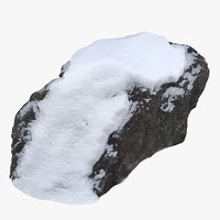 scan rock snow 3D model