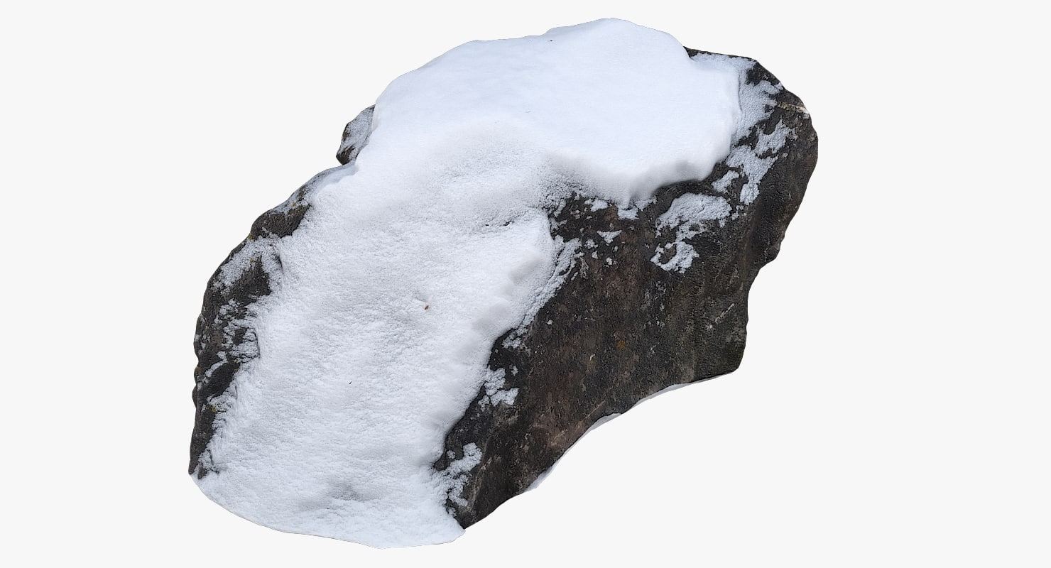 scan rock snow 3D model