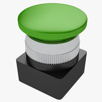 3D industrial button model