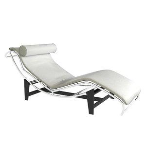 lc4 corbusier chaise longue 3D model
