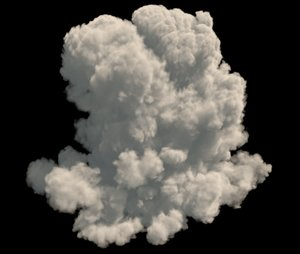 3D model realistic cloud vdb format