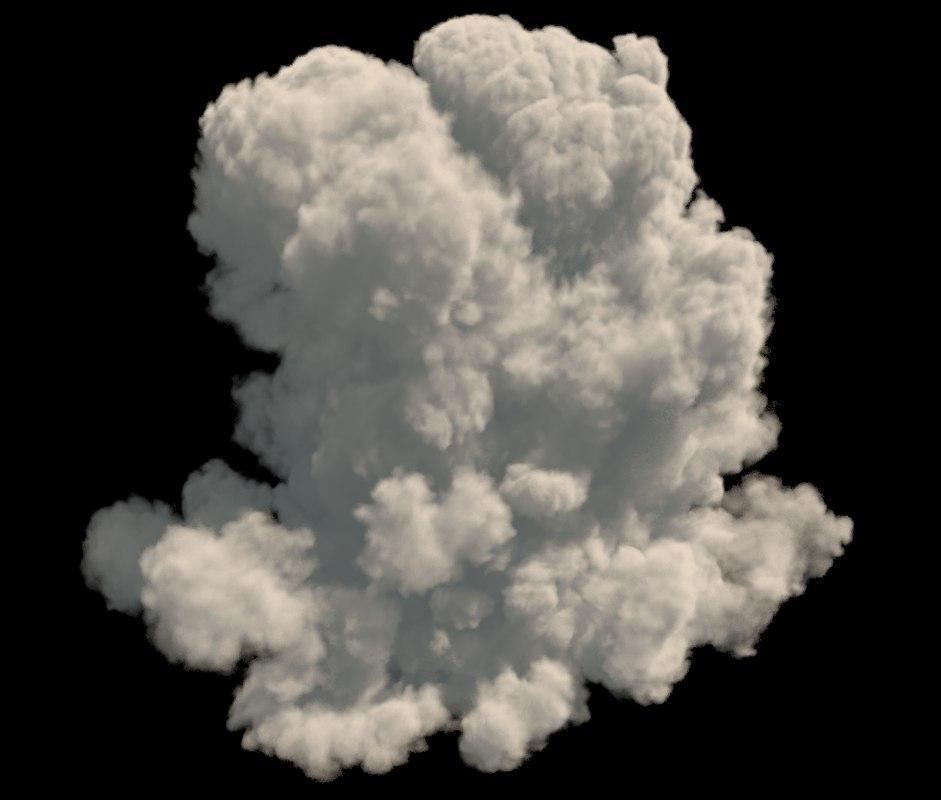 3D model realistic cloud vdb format