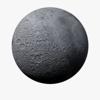 3D photorealistic moon 64k planet model