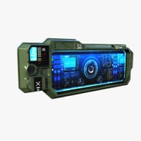 sci-fi monitor 3D model
