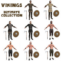 3D model pack viking