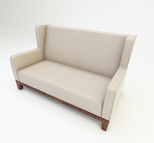 double chair furniture 3D