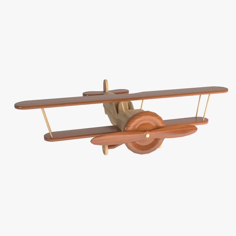 3D wooden aircraft model
