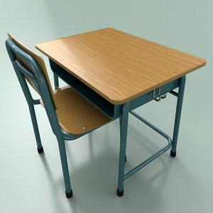 3D student desk