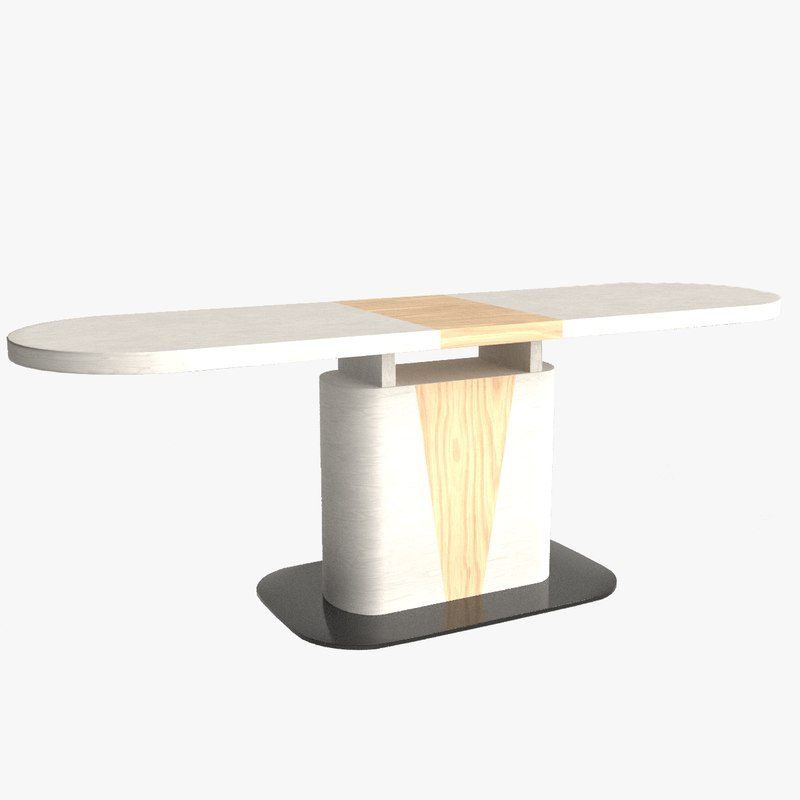 3D cangas dining table model