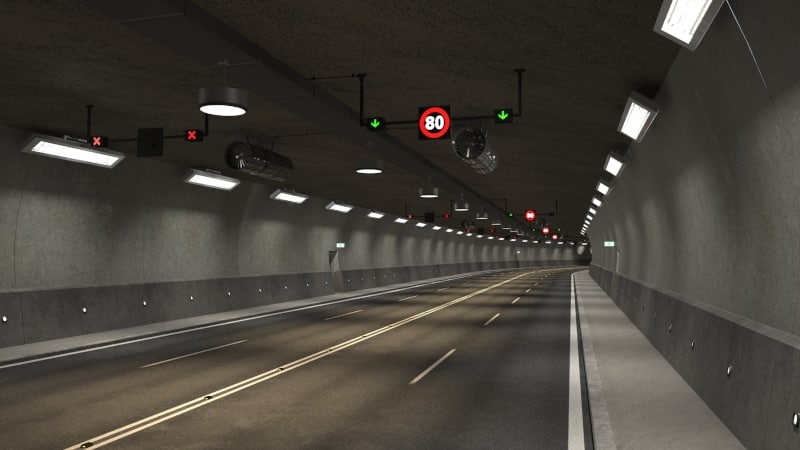 tileable road tunnel 3D
