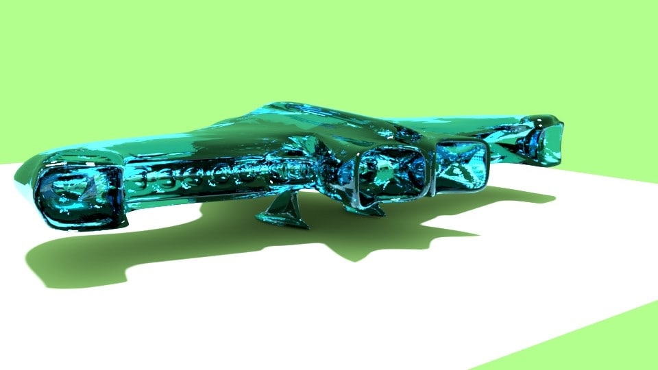 glass spaceship 3D model