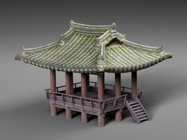 3D chinese arbor
