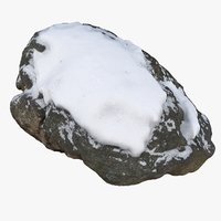 scan rock snow 3D