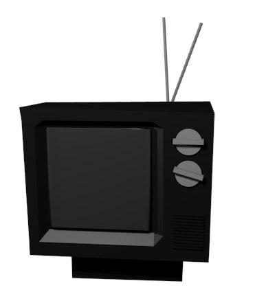 retro cartoon crt 3D model