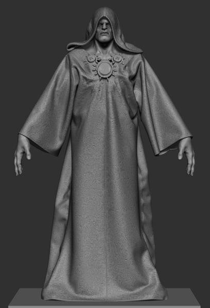 3D nhya priest model